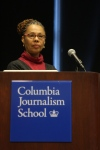 Columbia Journalism professor June Cross moderates a panel of duPont Award-winning documentarians